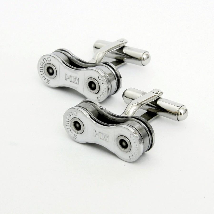 زفاف - Shimano Bike Chain Cufflinks - Cycling, Gift for Cyclist, Bicycle Chain Links, Cycling Gifts, Bike Cufflinks, Bicycle Cufflinks, Shimano