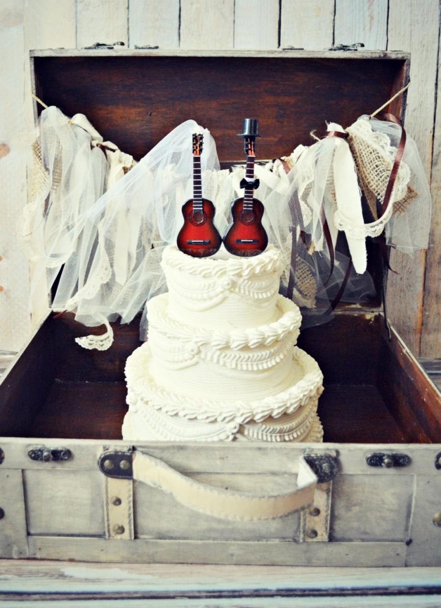 Music Guitar Wedding Cake Topper Instrument Music Wedding Instrument