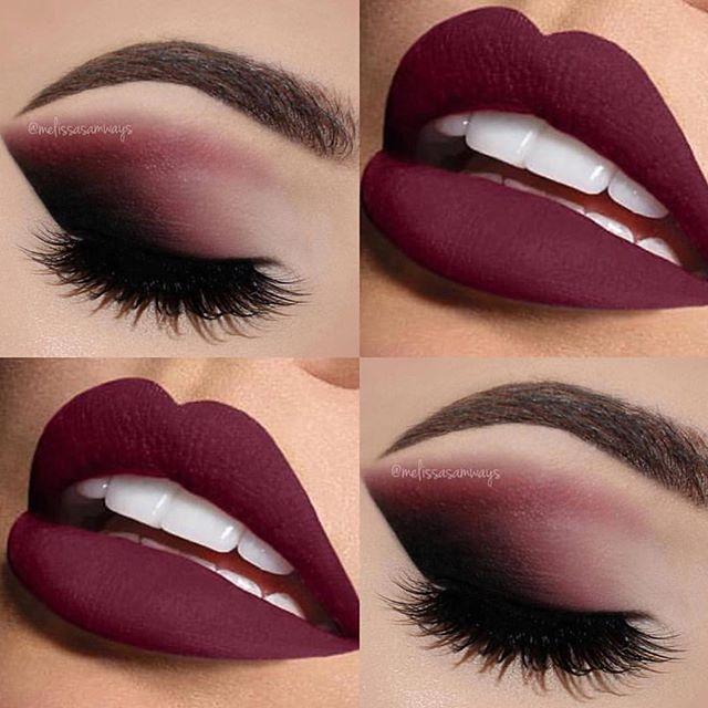 Свадьба - Burgundy makeup