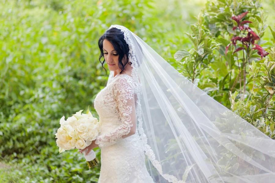 Mariage - Mantilla Lace Wedding Veil
