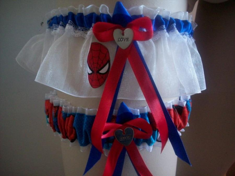 Mariage - Spiderman Wedding Garter Set