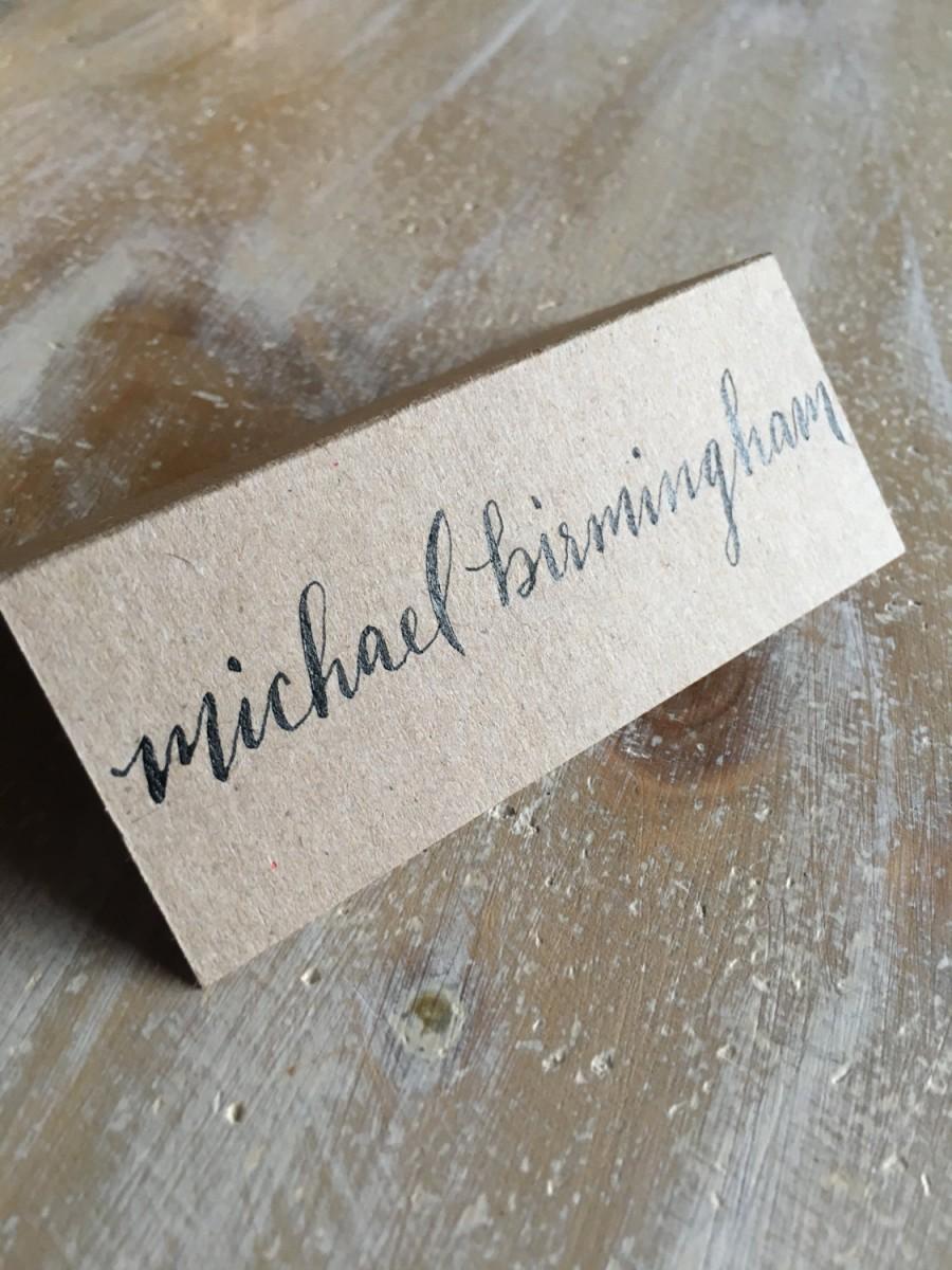 Hochzeit - Handwritten Calligraphy Wedding & Event Escort and Place Cards