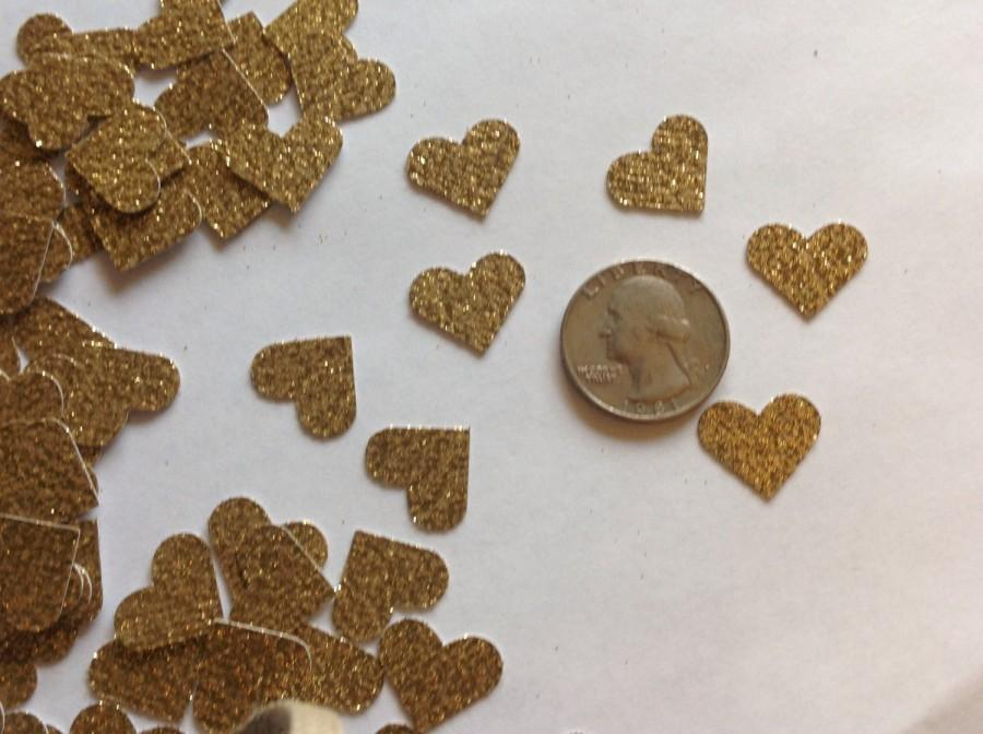 Hochzeit - Gold Glitter Heart Table Scatter, Gold Heart Confetti, Gold Heart Die Cut, Valentines Day Decor, Wedding Decor, Heart Decoration - 150pcs
