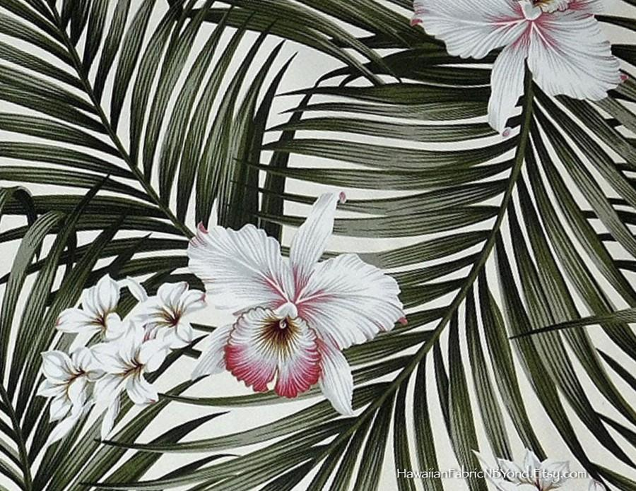 Upholstery Fabric, Tropical Home Office Furniter Bedding Fabric, Orchids  Palm Leaf High Quality, HCVN9806 Ask For Bulk