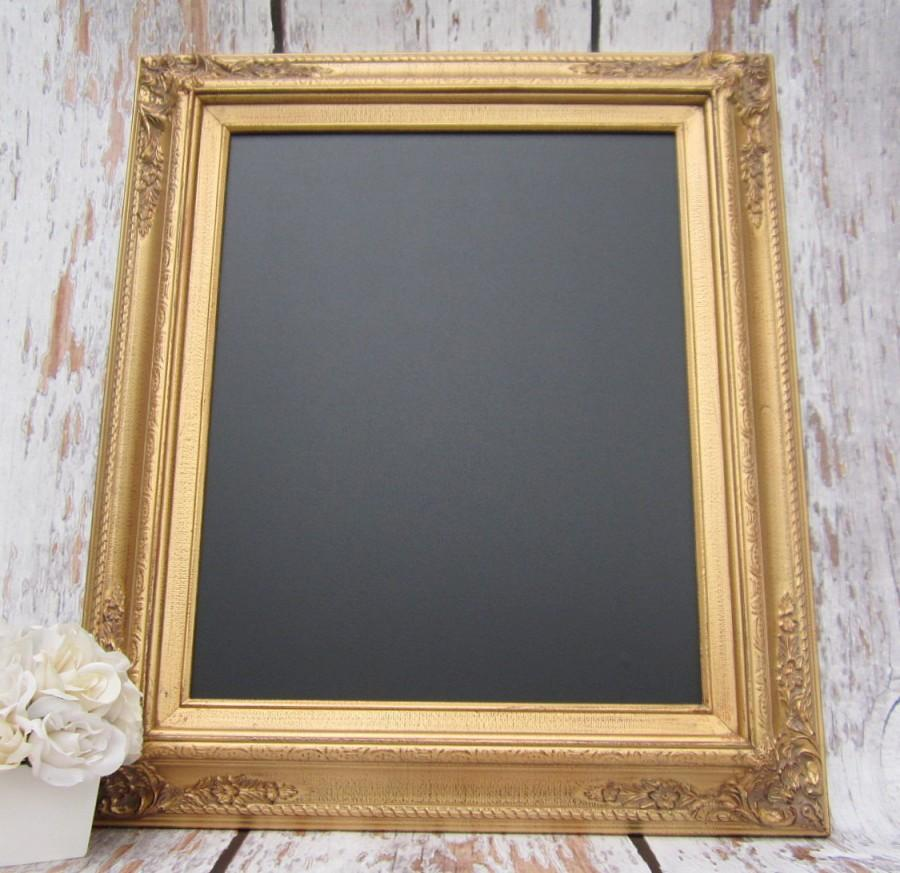 Gold Framed Chalkboard Kitchen Magnetic Memo Board Home Decor Frame Office Wedding