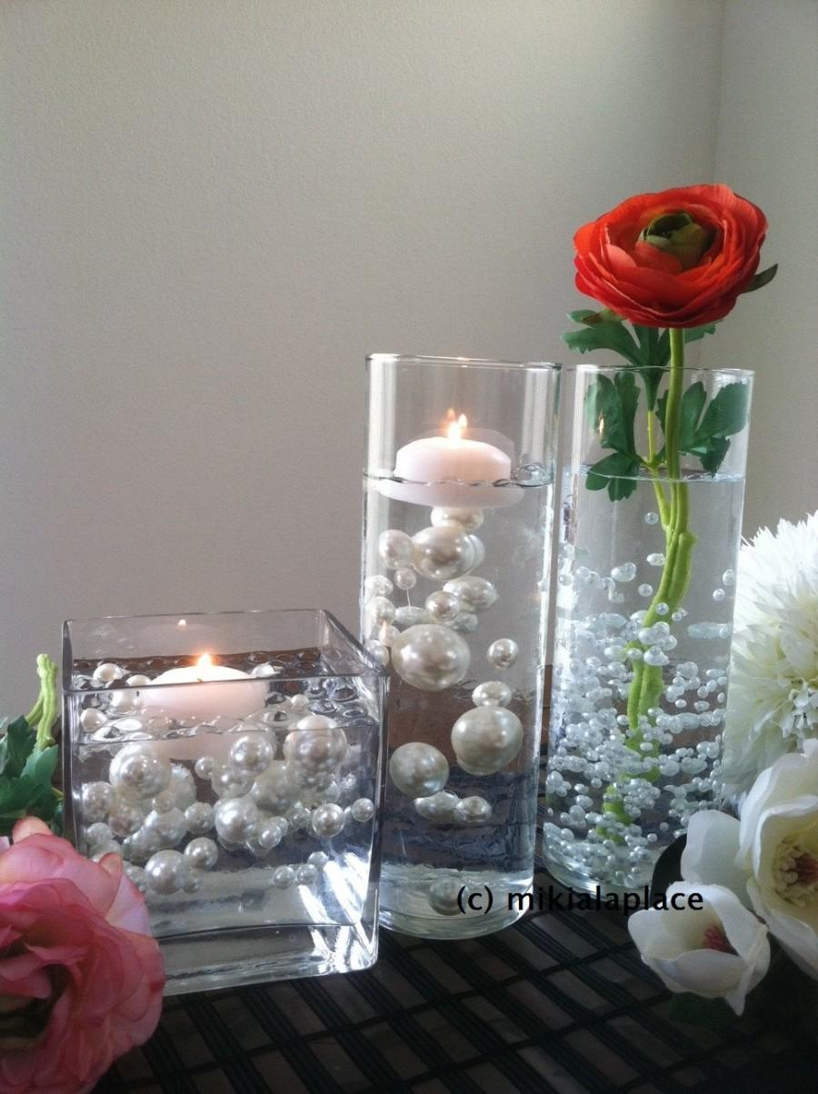 Свадьба - Transparent Water Gel Beads Used To Float Pearls For Centerpieces - Vase Filler