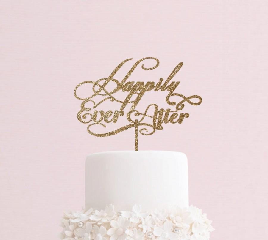 Happily ever after cake topper cake topper engagement topper happily ever after cake topper cake topper engagement topper wedding accessories wedding gift wedding cake decorations wedding cake junglespirit Image collections