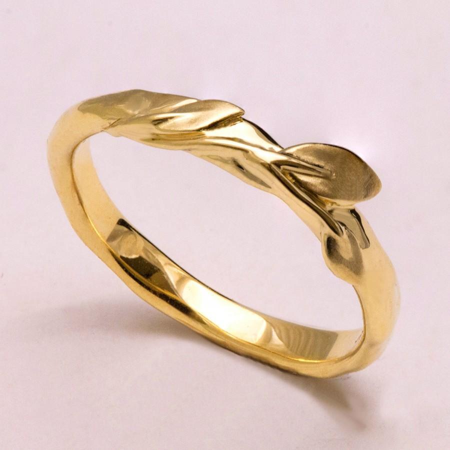 زفاف - Leaves Ring No.9- 14K Gold Ring, games of throne jewelry, wedding ring, wedding band, leaf ring, filigree, antique, art nouveau, vintage