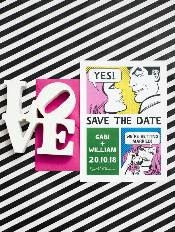 Mariage - Funny Comic Save the Date Printable