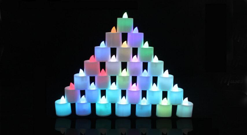 Mariage - LED Tea Light 12 Pieces/24 Pieces (GA,USA)