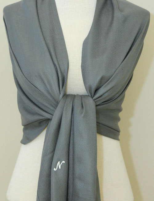 Свадьба - Dark charcoal gray bridal shawl, bridesmaid wrap, scarf, bridesmaid gifts, mother of the bride gifts