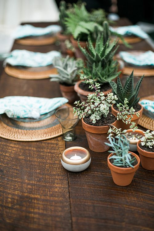 Wedding - Wedding Centerpiece Idea We Love: Potted Plants