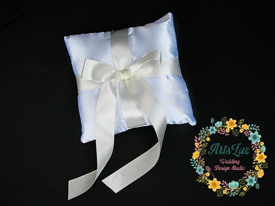 Свадьба - Wedding pillow for rings-Bearer Ring Pillow-Classic design Wedding Ring Pillow-Satin Wedding Ring Pillow-Pillow ring-Wedding ceremony-Gift
