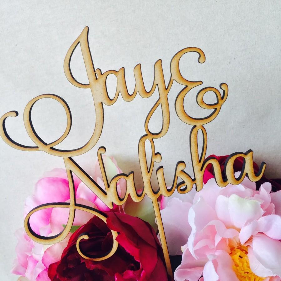 Mariage - Custom Design Cake Topper Black, White, Gold or Silver Cake Topper Custom Cake Decoration Cake Decorating Wedding Engagement Birthday Cake