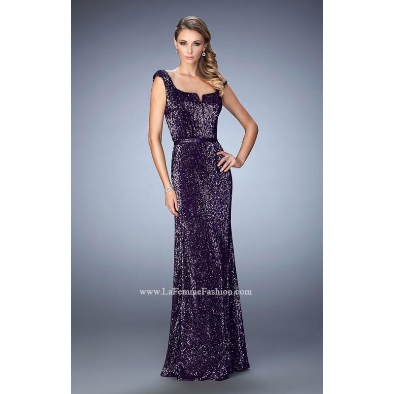 Charcoal La Femme 22445 - Sequin Dress - Customize Your Prom Dress ...