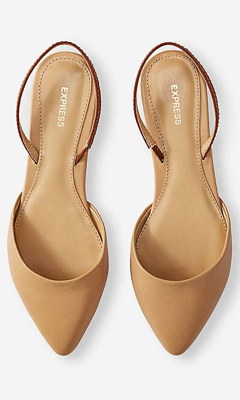 Mariage - POINTED TOE SLINGBACK FLAT From EXPRESS