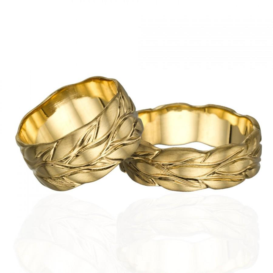 band by made men valeriekstudio wedding hand women gold womens bands s mens custom leaf ring crafted and white cutout