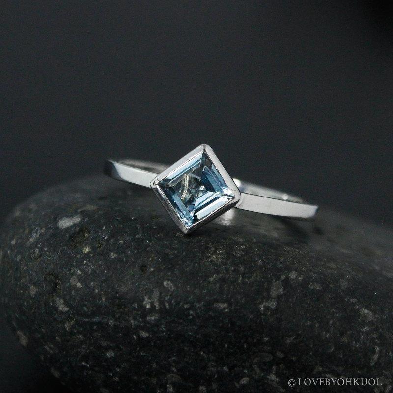 Свадьба - Princess Cut Aquamarine Ring – Choose Your Setting