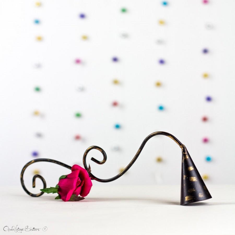 Свадьба - Vintage Style Candle Snuffer/ Shabby Cottage Chic Spring Decor/ Bronze Creamy White with Gold / Al-Hijra gift/ رأس السنة الهجرية