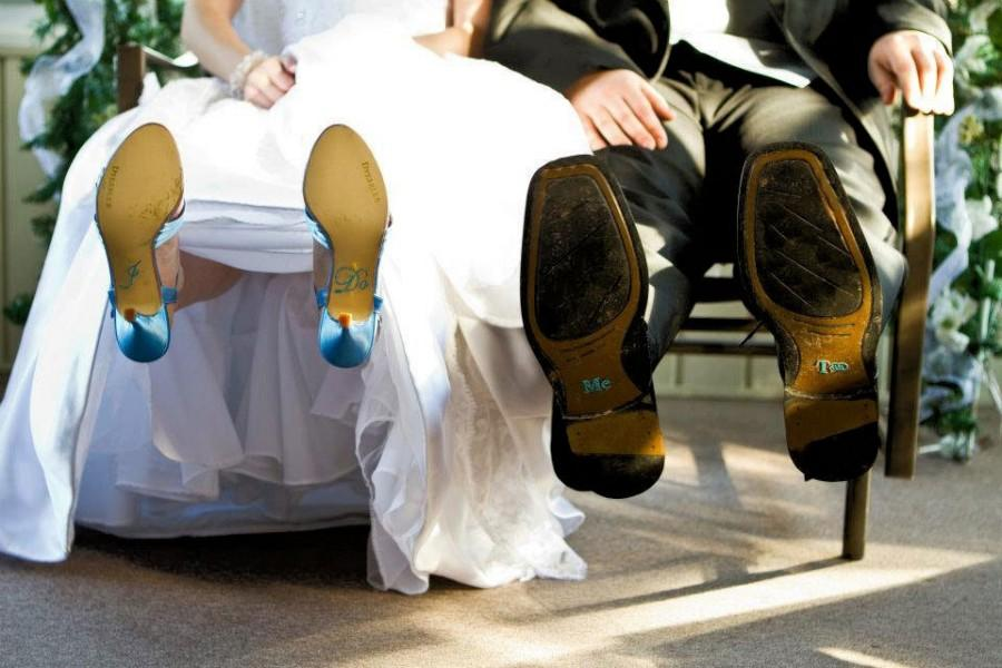 Свадьба - I Do Shoe Stickers for the Bride & Me Too Stickers for the Groom