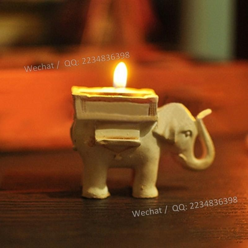 زفاف - Beter Gifts® 印度幸運大象燭臺回禮BeterWedding 創意婚禮糖果架SZ040婚禮宴會席位卡喜糖盒
