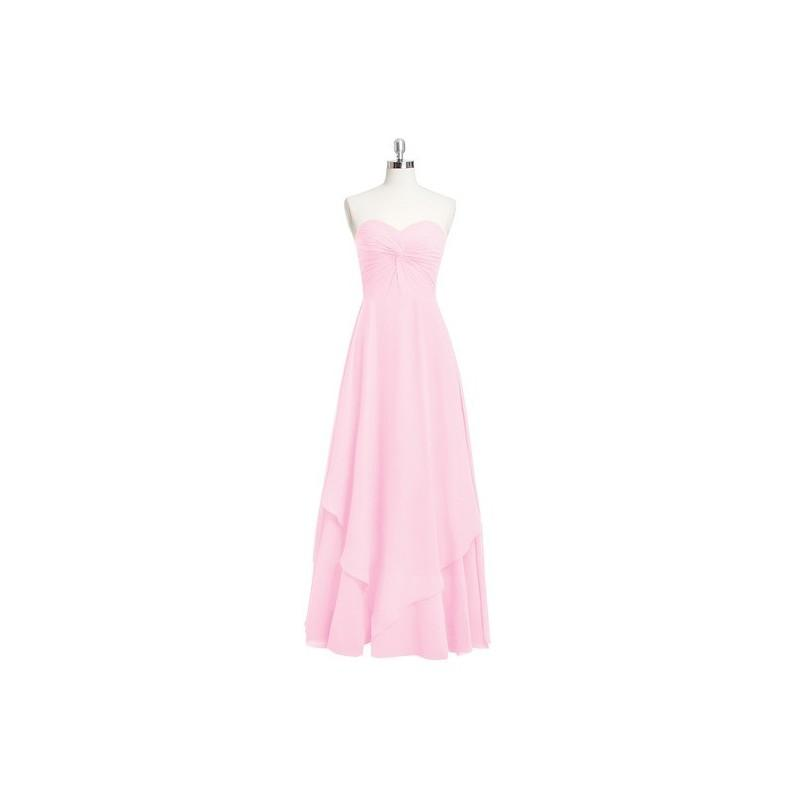 af74dbfe12 Candy pink Azazie Ginette - Chiffon Floor Length Back Zip Sweetheart Dress  - The Various Bridesmaids Store