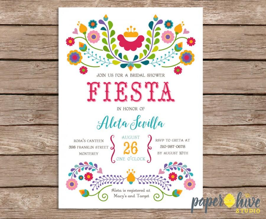 Fiesta Bridal Shower Invitation Mexican Bridal Shower Printable