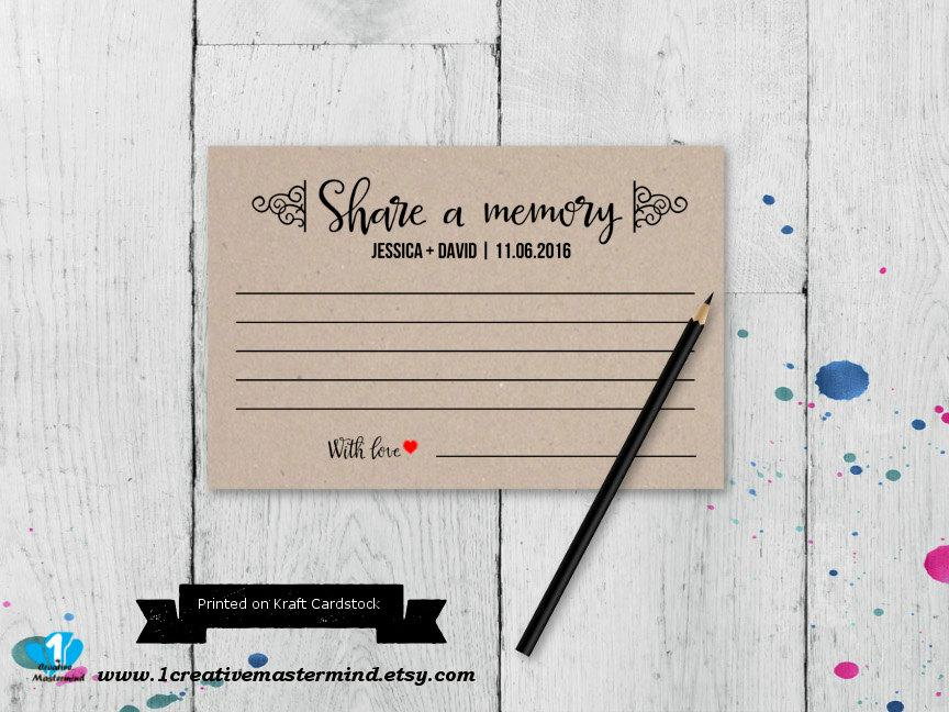 Share A Memory Printable Card Wedding Advice Template Bridal Shower Couple Shower Instant Download Editable Template Digital 2656846 Weddbook,Wedding Dress Fitted Mermaid