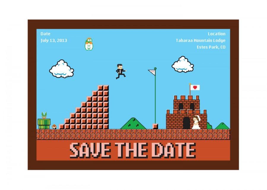 Hochzeit - Nintendo Wedding Invitation Design 2