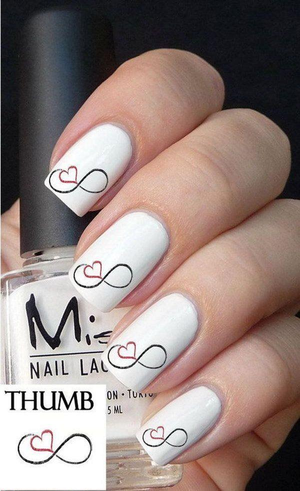 Nagel Romantic Heart Nail Art Designs 2656869 Weddbook