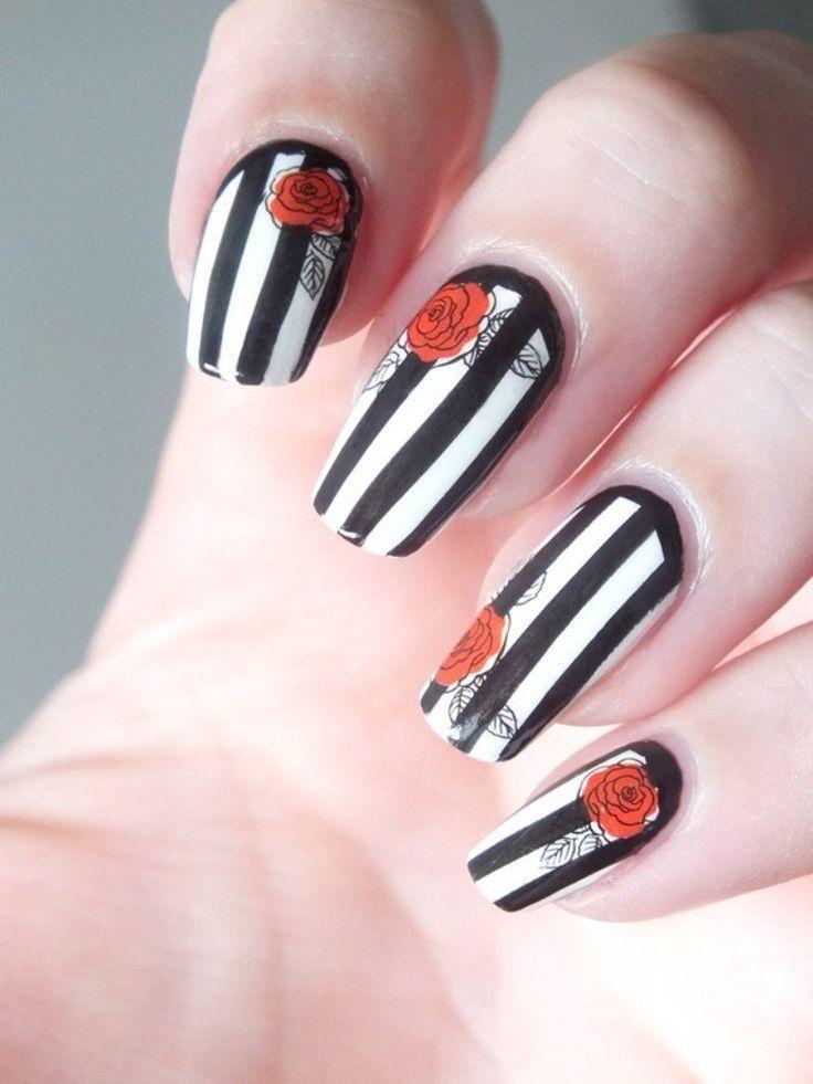 Свадьба - Valentine's Day Nail Art Designs