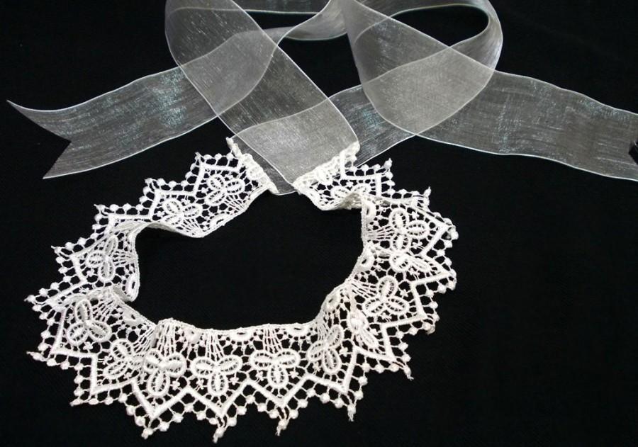 Mariage - Bridal Headband, Wedding Fascinator, Handmade, Lace Wedding headpiece, French Lace,  Wedding hair, Romantic wedding jewelry