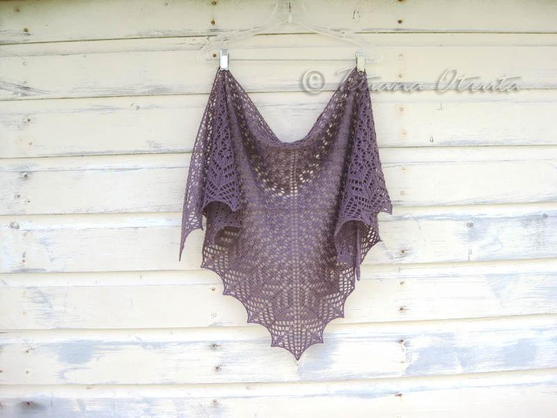 Свадьба - Lace hand knit shawl triangular scarf wrap gift for women - Choose color