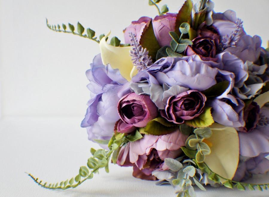 Mariage - Bridal Bouquet, Purple Bouquet, Lavender Bouquet, Eggplant Purple,  Spring Wedding, Brides Bouquet, Wedding Bouquet, Bridesmaid Bouquet