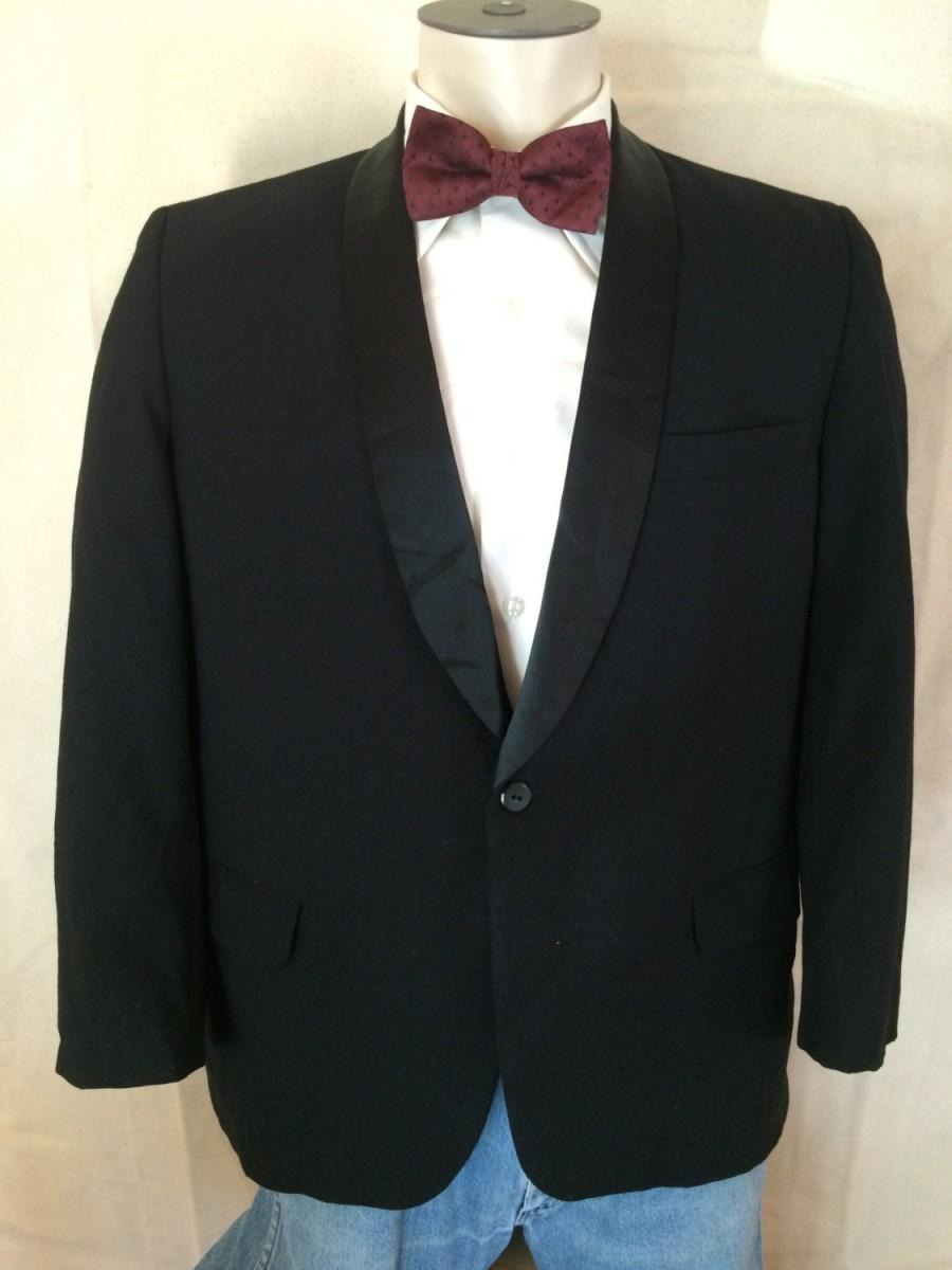 Hochzeit - 1980s Tuxedo Jacket - Mens Shawl Lapel Tux from Seno size 42S - New Years Party