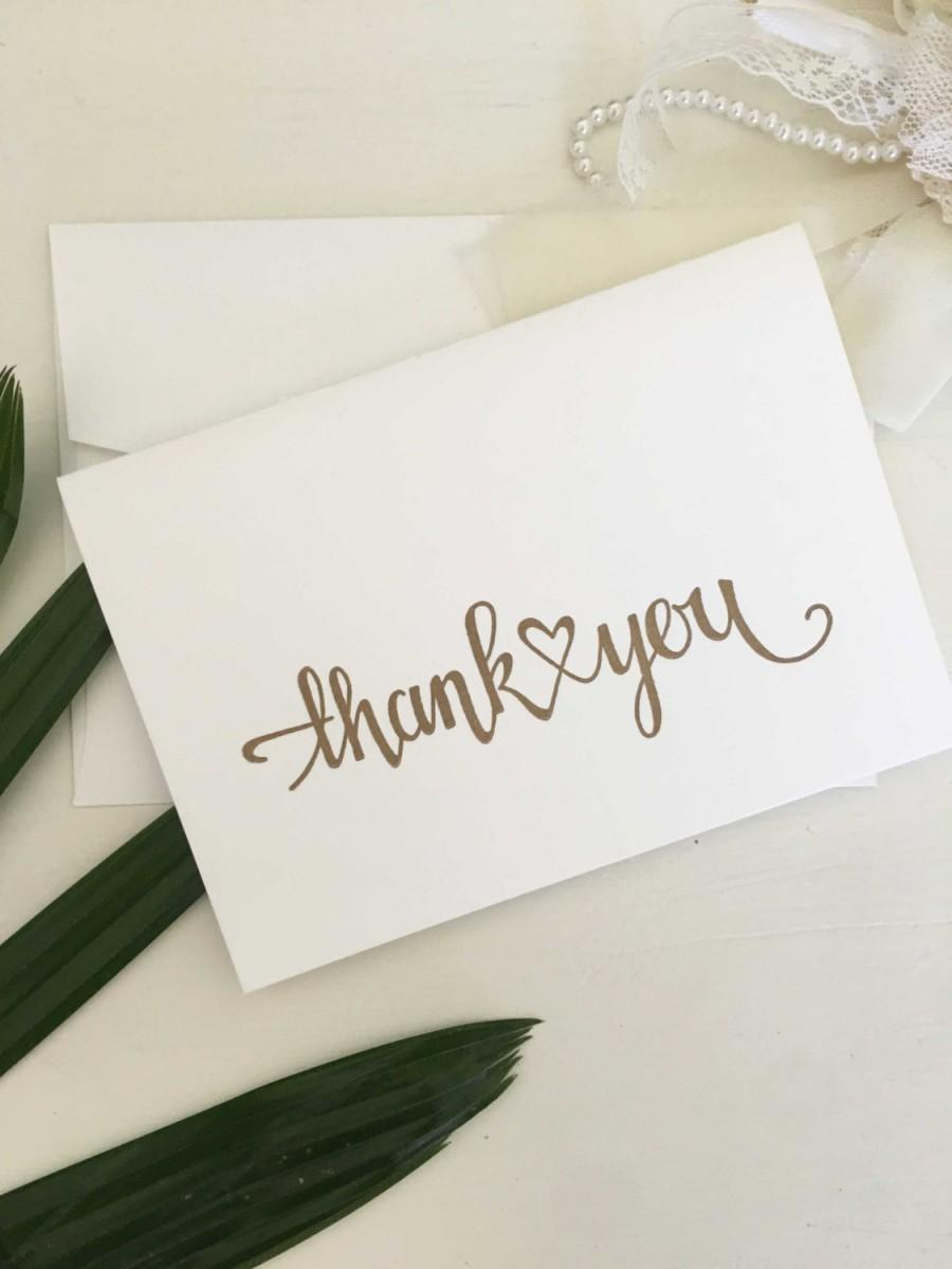 Mariage - Letterpress Wedding Thank You Cards Engagement Thank You Cards Thank You Card Sets