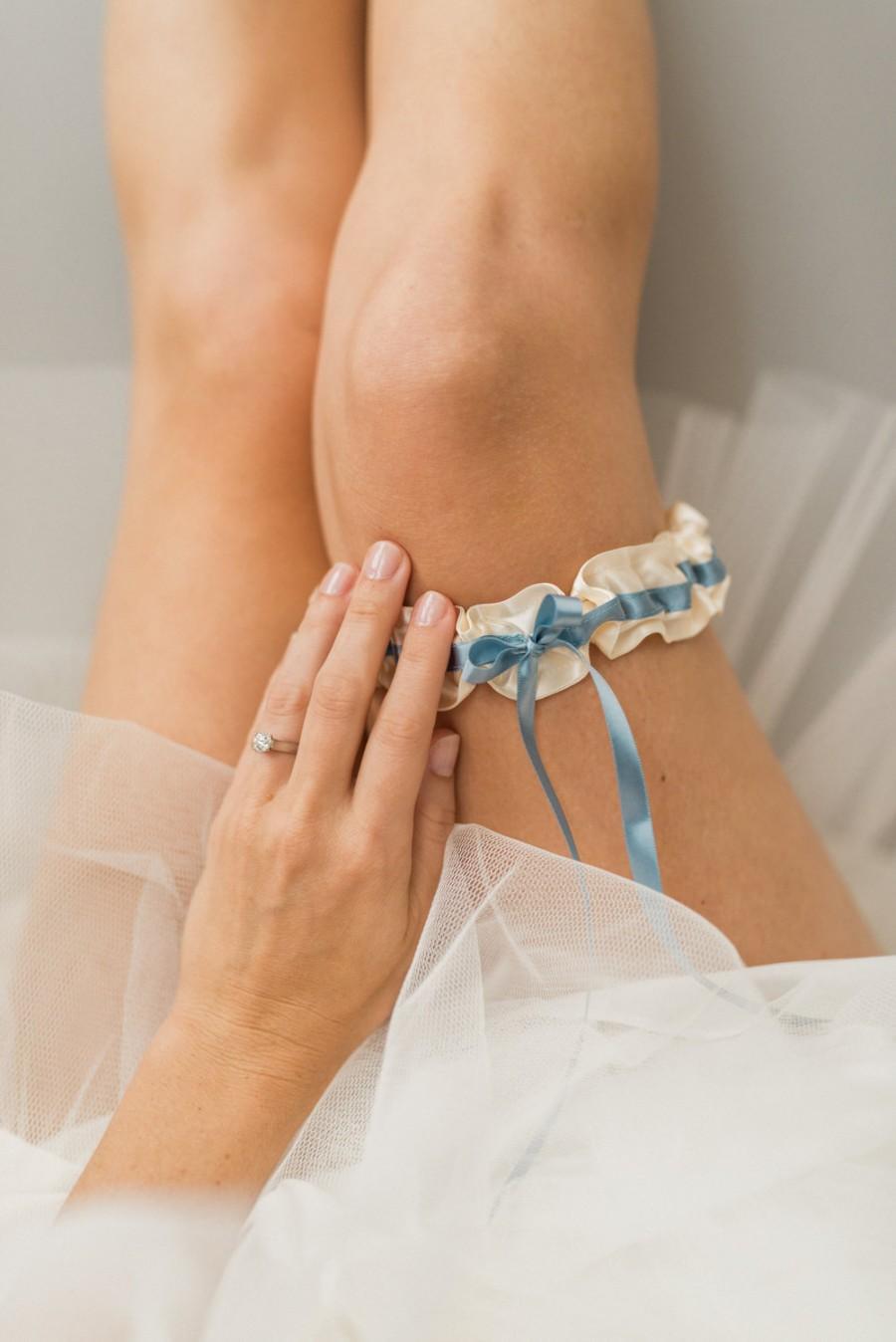 Mariage - Garter, Wedding Garter, Bridal Garter, Blue Garter, Blue Wedding Garter, Blue Bridal Garter, Something Blue - Stylish Garter by Garter Girl