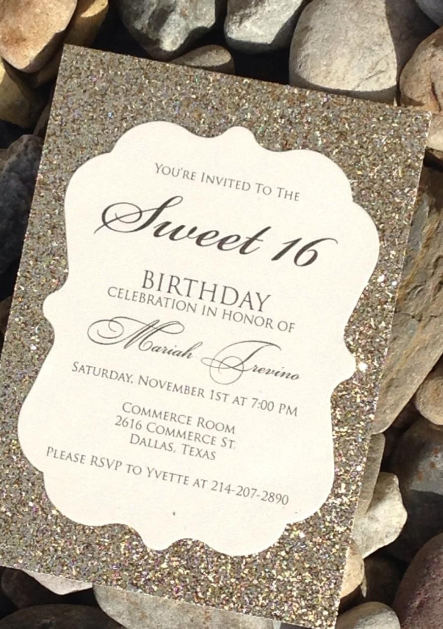 Sweet 16 Birthday Invitation Sweet 16 Invitation Quinceanera – 16 Birthday Invitations