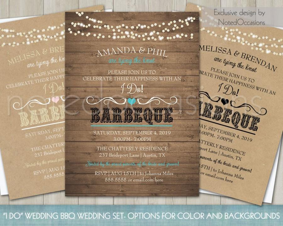Printable I Do Bbq Wedding Reception Invitation 2657344 Weddbook