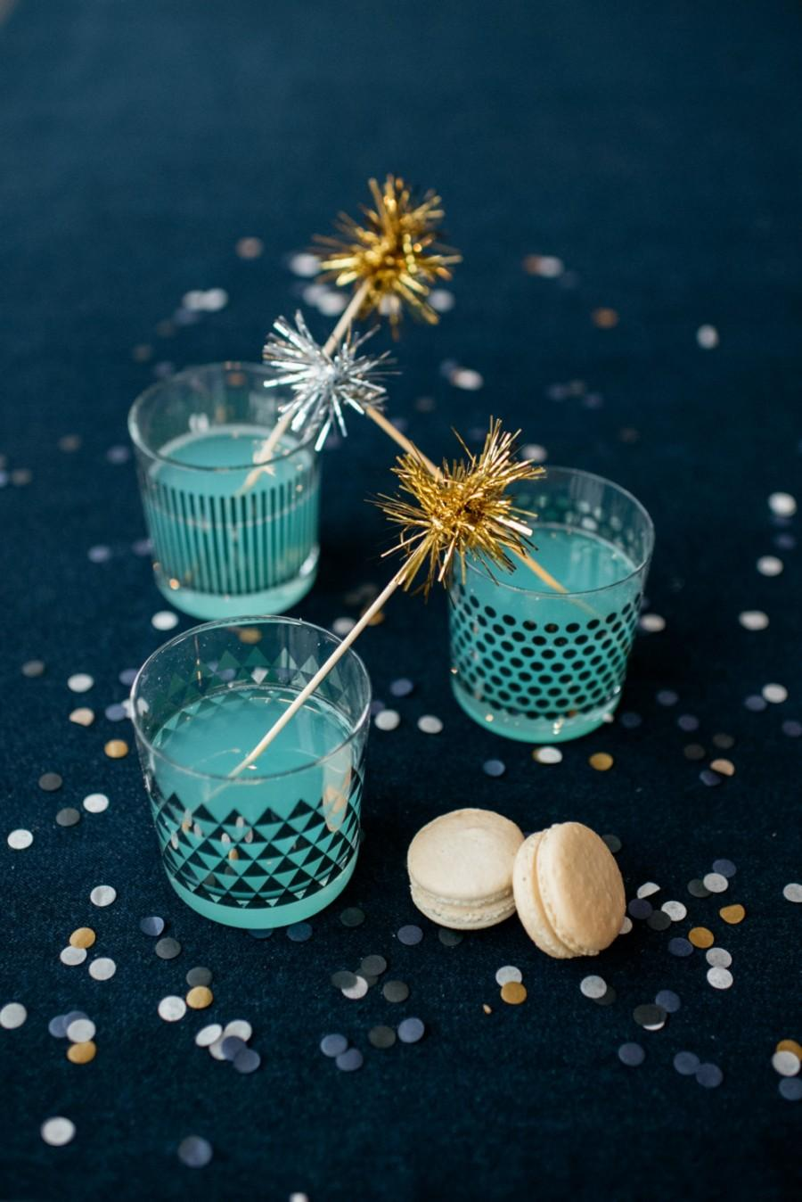 Свадьба - 100 Gold or Silver Tinsel Drink Stirrers