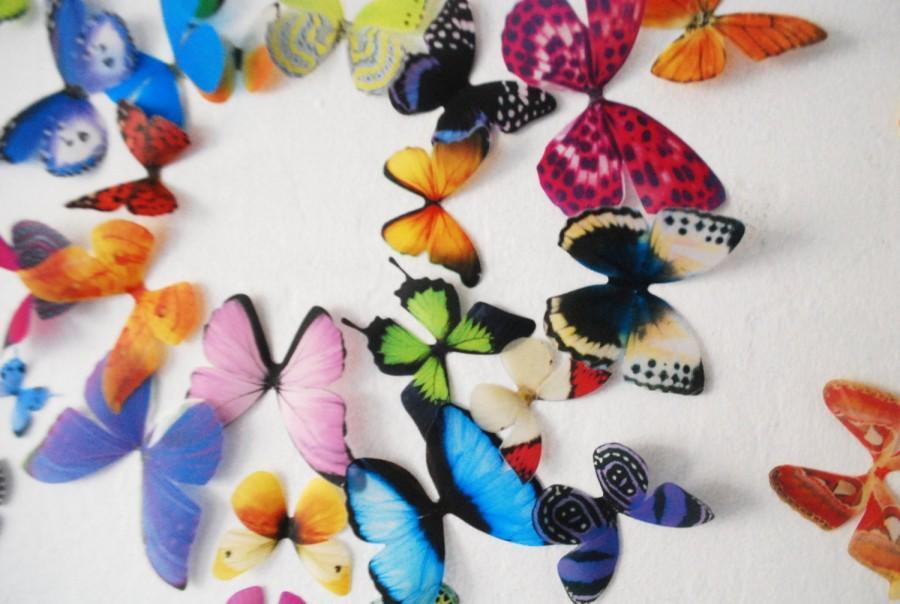 زفاف - 3D Wall Butterflies- set of 20