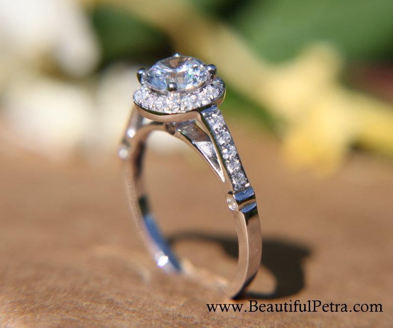 Diamond Engagement Ring 14k White Gold