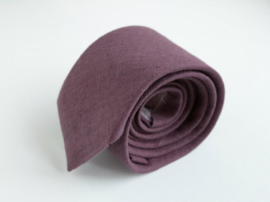 زفاف - Marsala Neckties, Bowties- Mauve, Burgundy, Deep Garnet Linen Necktie- Men's Tie- Wedding Ties- Groomsmen  Neckties