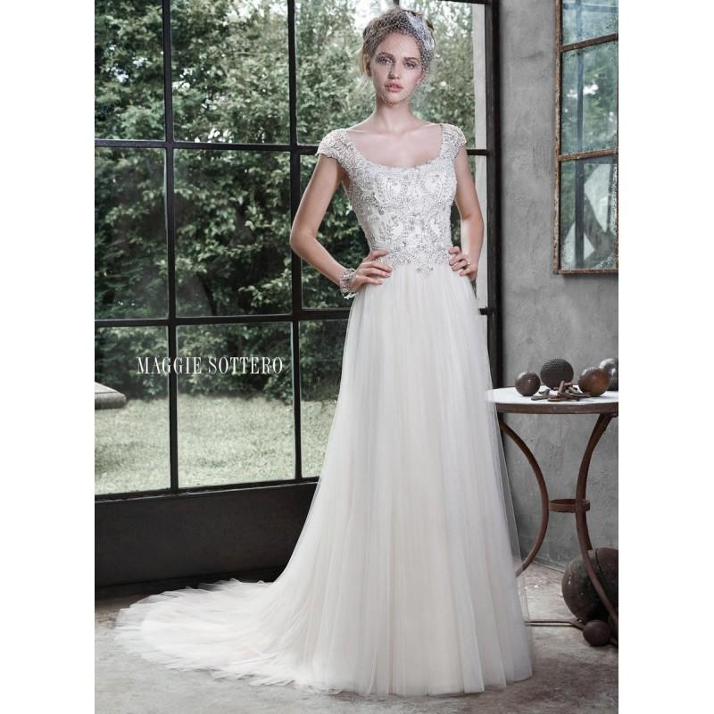 Boda - All White Maggie Bridal by Maggie Sottero 5MD611 - Brand Wedding Store Online