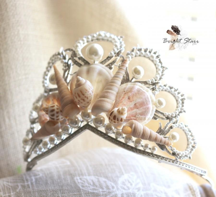 Свадьба - Mermaid Crowns - shell crown - pearl wedding tiara - Beach wedding headband - mermaid tiara - seashell tiara - seashell headband