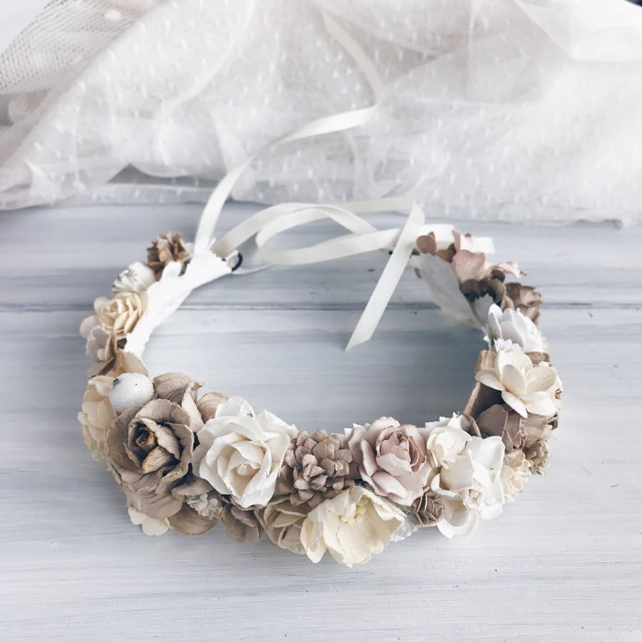 Свадьба - Bridal flower crown, Bridal Floral crown, wedding flower crown, flower crown, wedding crown, floral head piece, boho bride