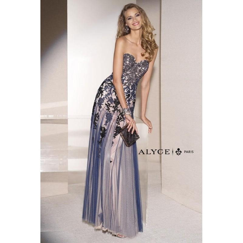 Mariage - Navy/Nude Alyce Mothers Gowns Long Island Alyce Black Label 5665 Alyce Paris Black Label - Top Design Dress Online Shop