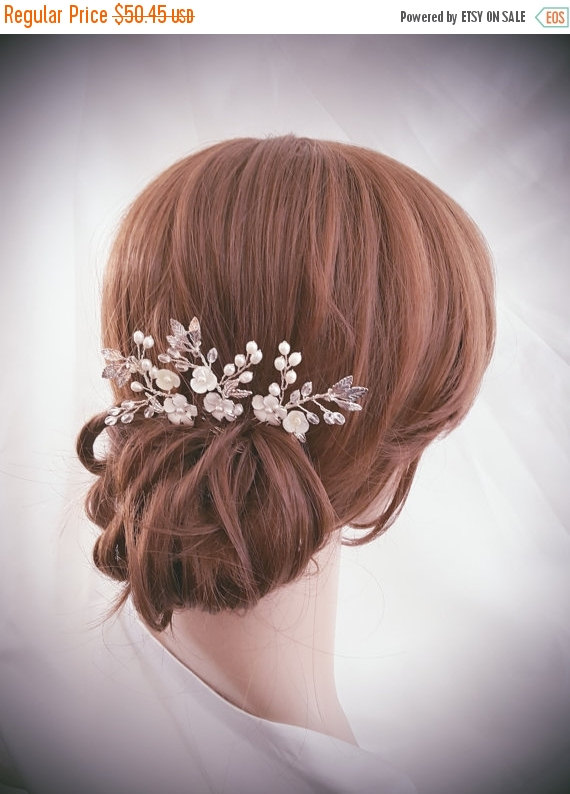 زفاف - SALE20%-LIMITED TIME Bridal Hair Pin, Wedding Hair Comb, Bridal Comb Set, Silver Hair Accessories, Gold Hair Jewelry, Set of 3