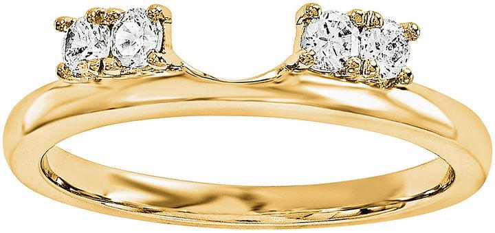 MODERN BRIDE 1 6 CT T W Diamond 14K Yellow Gold Ring Enhancer