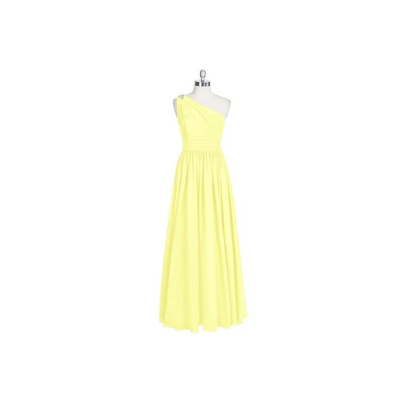 Mariage - Daffodil Azazie Nora - Floor Length Chiffon One Shoulder Back Zip Dress - The Various Bridesmaids Store
